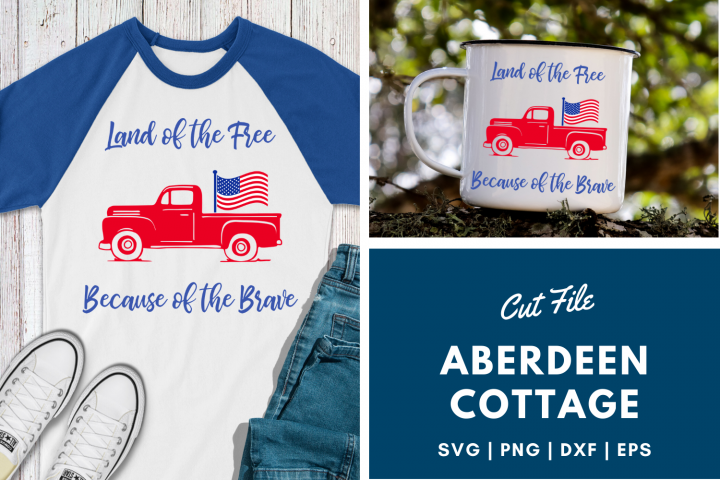 Land of The Free Because of The Brave | USA Patriotic SVG