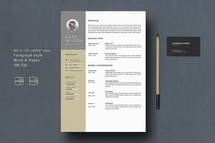 MS. Word Modern Resume Template