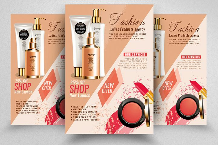 Cosmetic Product Sale Flyer Template
