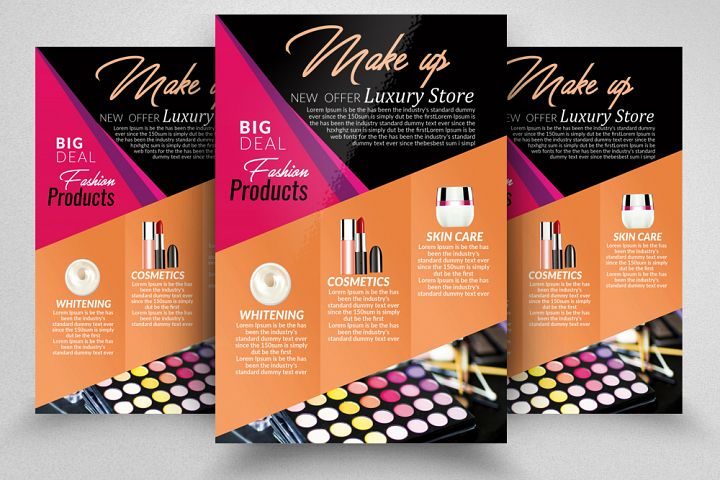 Cosmetic Store Promotion Flyer Template