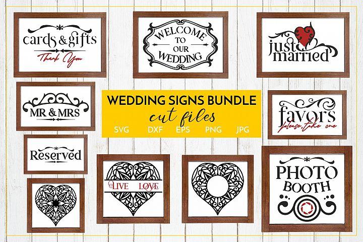 WEDDING Signs Bundle- Cut files SVG JPG PNG DXF EPS