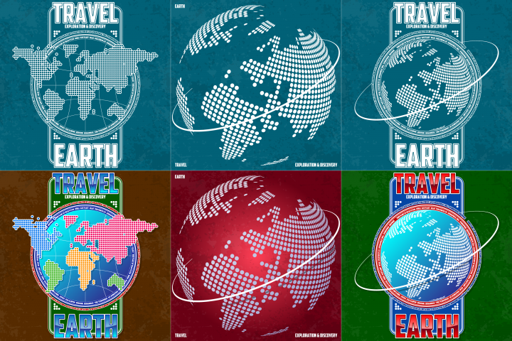 Travel, exploration and discovery Earth.