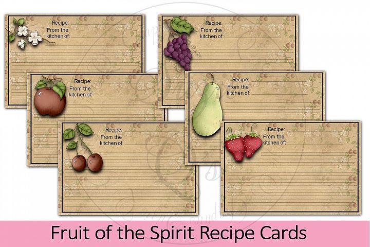 Fruit of the Spirit Recipe Cards