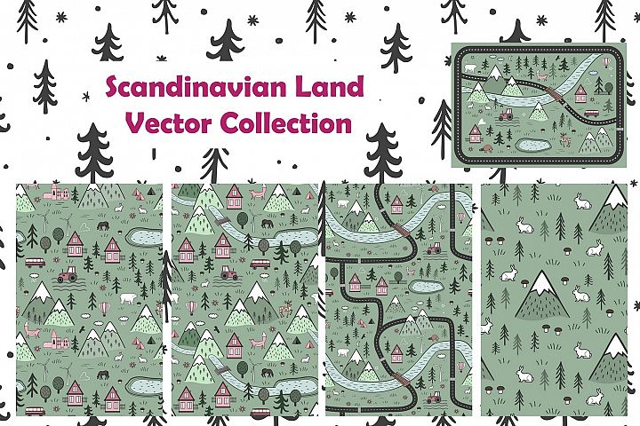 Scandinavian Land. Vector Collection