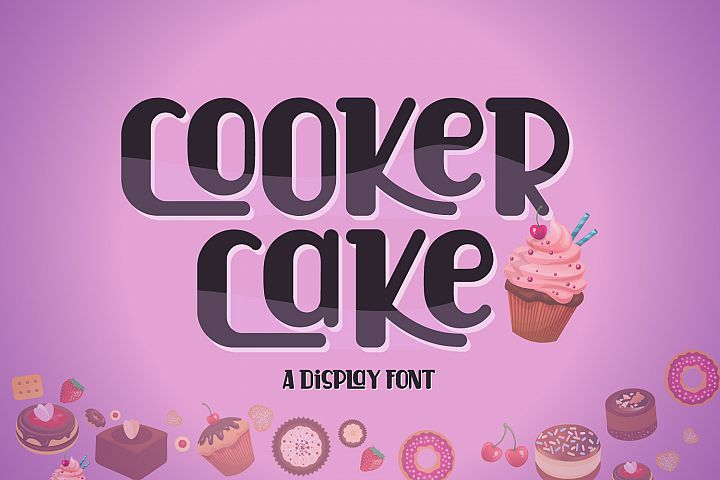Cooker Cake | Display Font