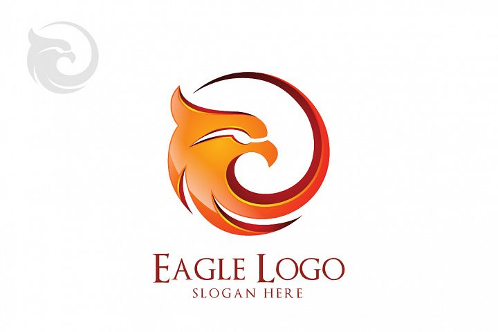 Eagle logo in circle, hawk , phoenix