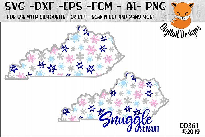 Kentucky Snowflake Winter SVG