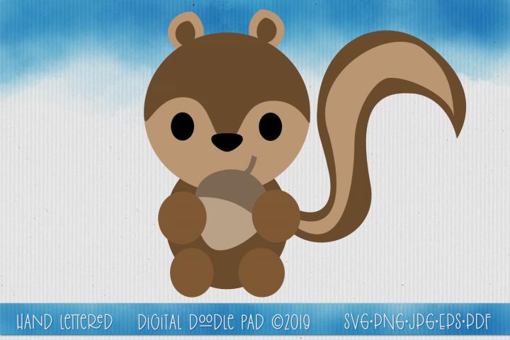 Squirrel SVG Split Monogram by Digital Doodle Pad