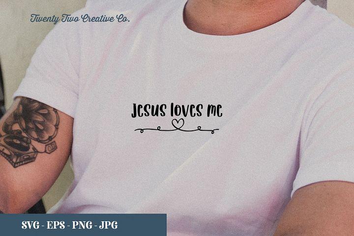 Jesus Loves Me Cut File - SVG, EPS, PNG, JPG