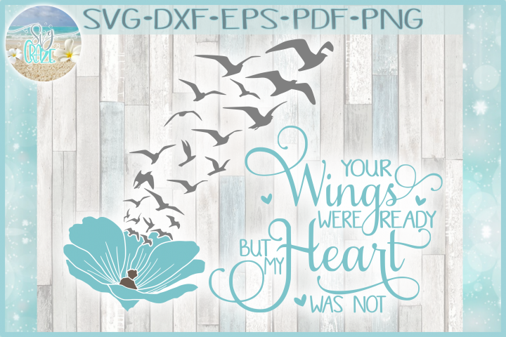 Your Wings Were Ready But My Heart Was Not with Cosmos SVG