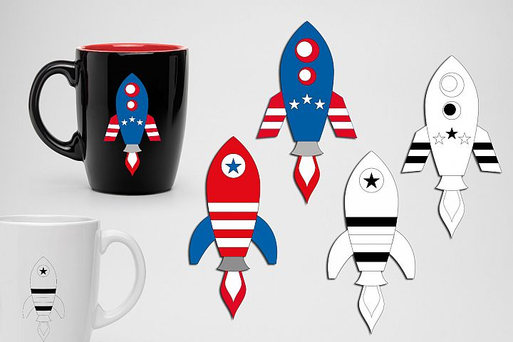Rockets 4th of July graphics illustrations example