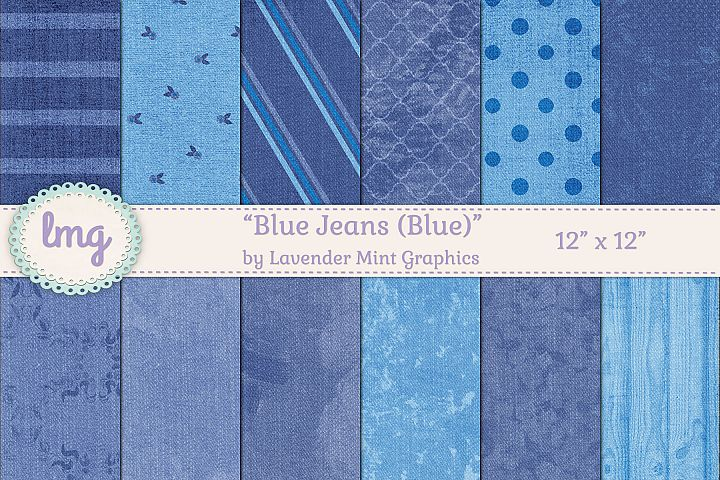 Blue Jeans Digital Scrapbooking Papers