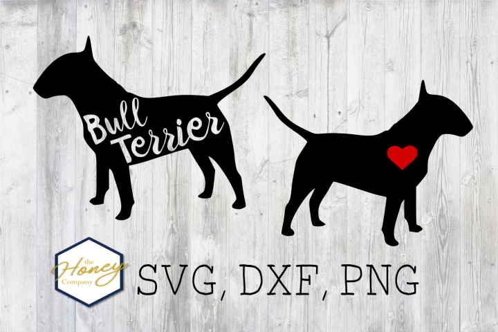 Bull Terrier SVG PNG DXF Dog Breed Lover Cut File Clipart