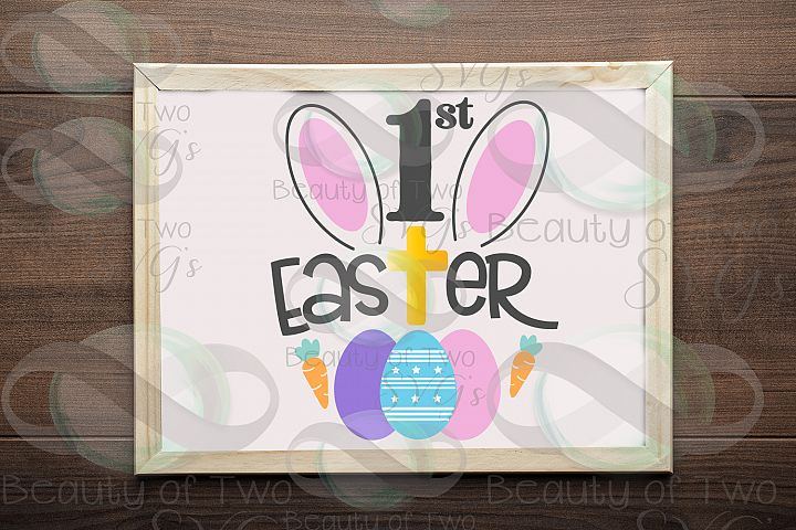 First Easter Svg & Png, Baby Easter svg, Easter Cross