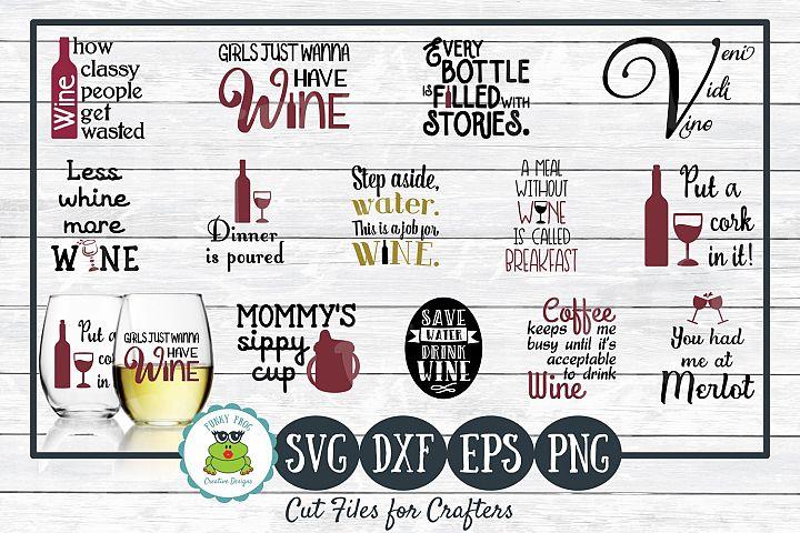 Wine SVG Design Bundle - Cut Files for Crafters