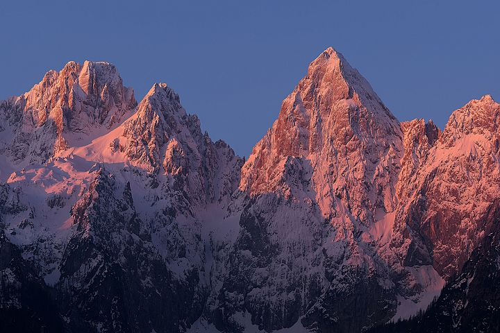 Majestic mountains in the morning