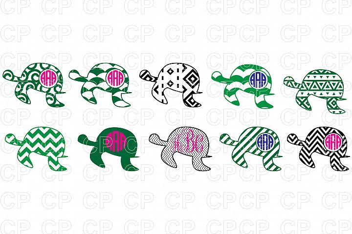 Sea Turtle Bundle SVG Cut Files, Turtle Clipart