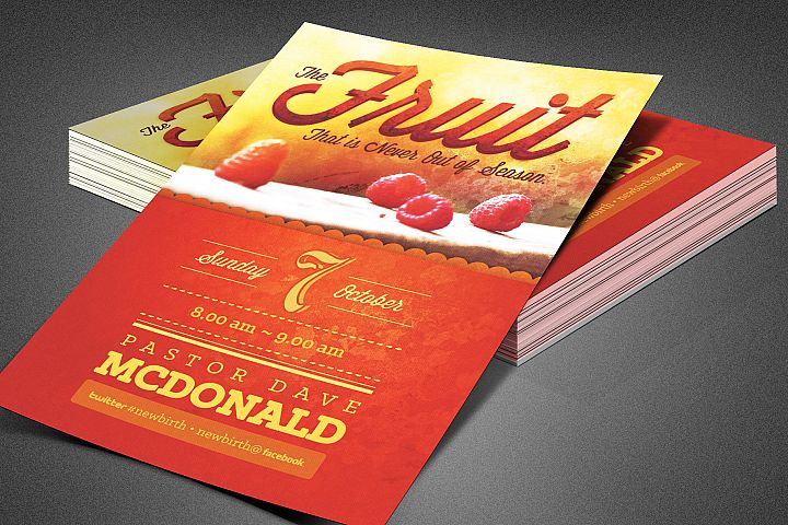 Fruit Season Church Flyer Template