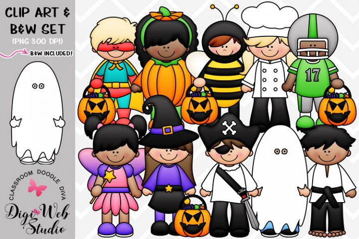 Clip Art / Illustrations - Halloween Costume Kids