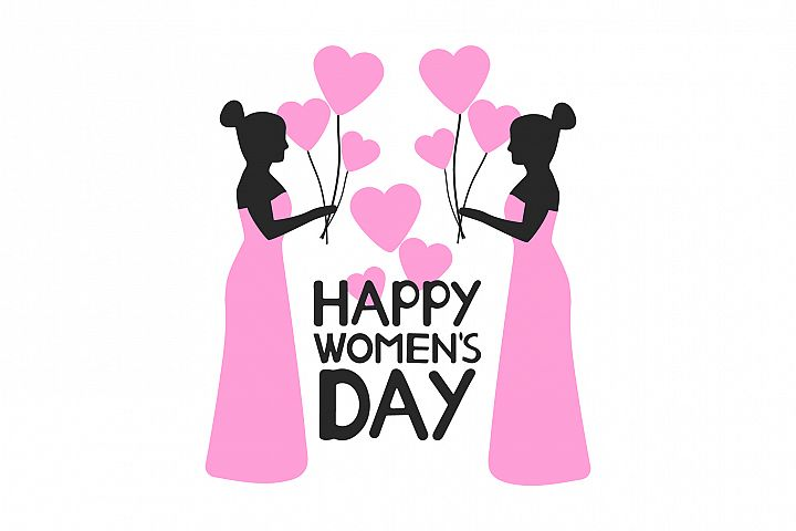 Happy Womens day card. 8 of March. Ai, eps, jpg, png, psd,