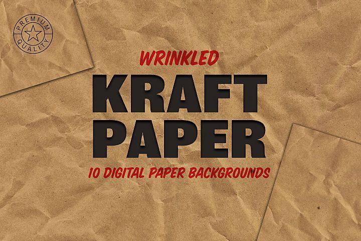 Wrinkled Kraft Paper Backgrounds
