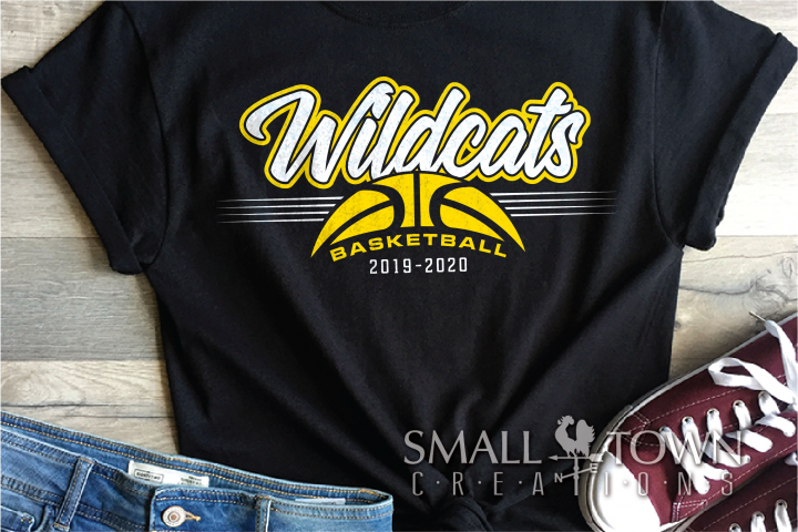 Wildcat, Basketball, Sports, Design, PRINT, CUT, DESIGN