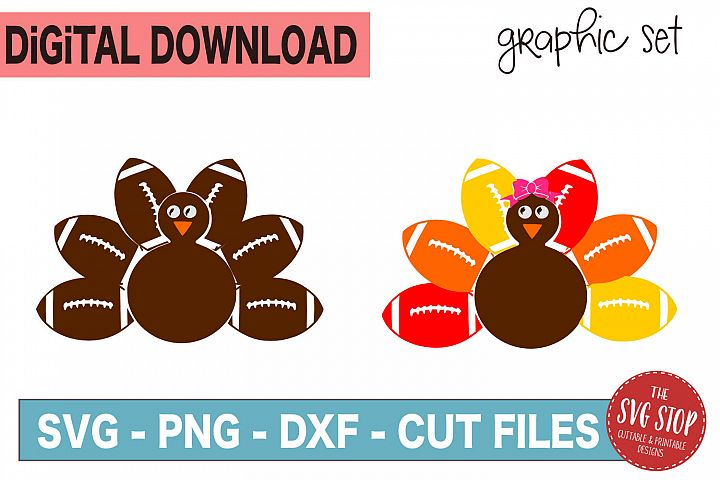 Football Turkey Monogram Frames - SVG, PNG, DXF
