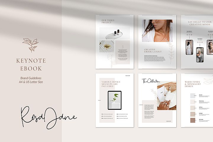 Keynote eBook Brand Guidelines - Rosa Jane