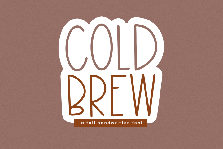 Cold Brew - A Thin & Tall Handwritten Font