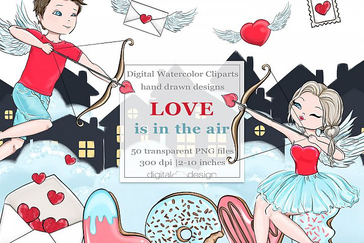 Love is in the air - Clipart