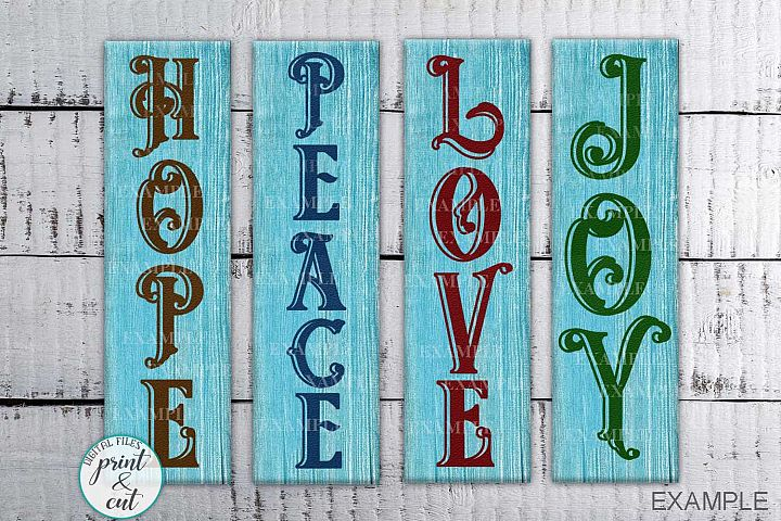 Vertical Christmas Porch Sign bundle svg dxf cutting files
