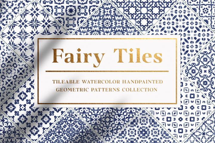 30 Geometric Watercolor Patterns