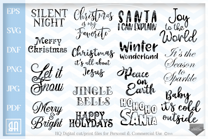 Christmas Quotes bundle svg, Christmas Sayings Bundle SVG