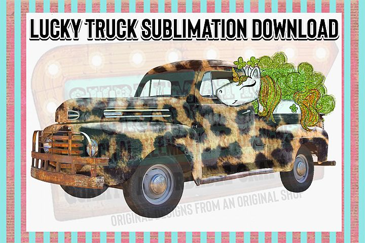 Lucky Truck Sublimation Digital Download