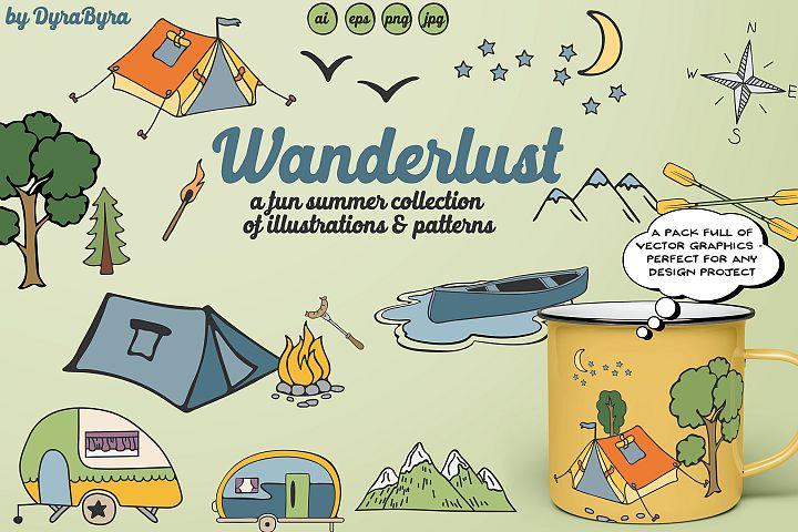 Wanderlust - Camping Illustrations & Patterns