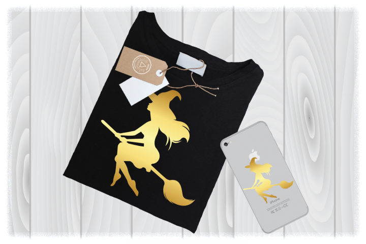 Gold Witch SVG Files for Cricut Designs