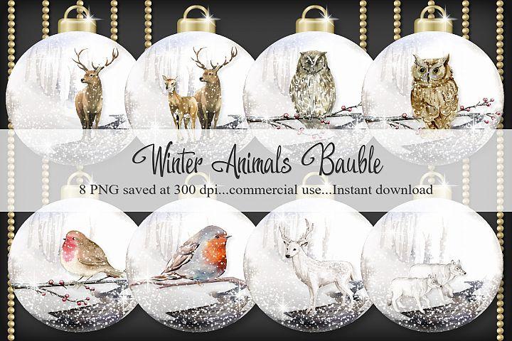 Winter Animals Bauble