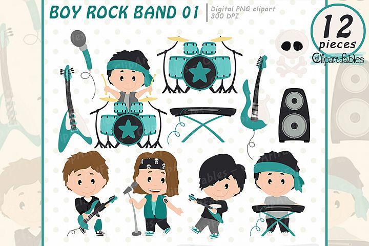 BOY Rock Star clipart, Music clip art - INSTANT download