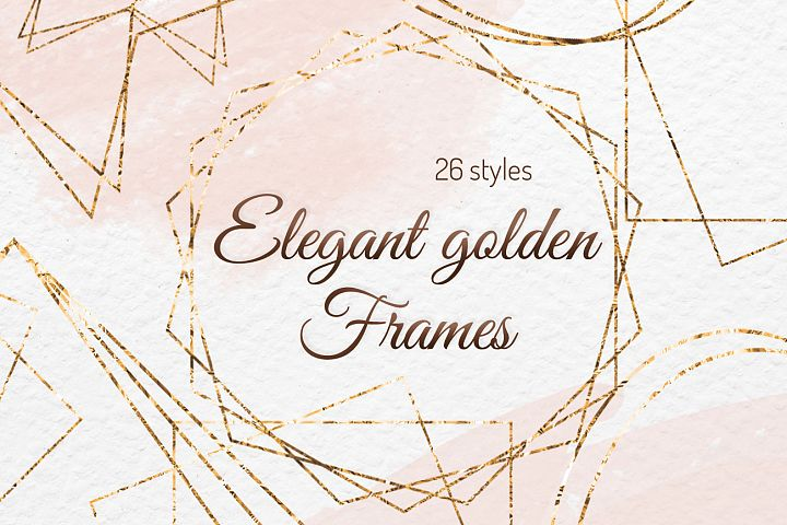 Gold frames clipart Digital frame Invitation decor