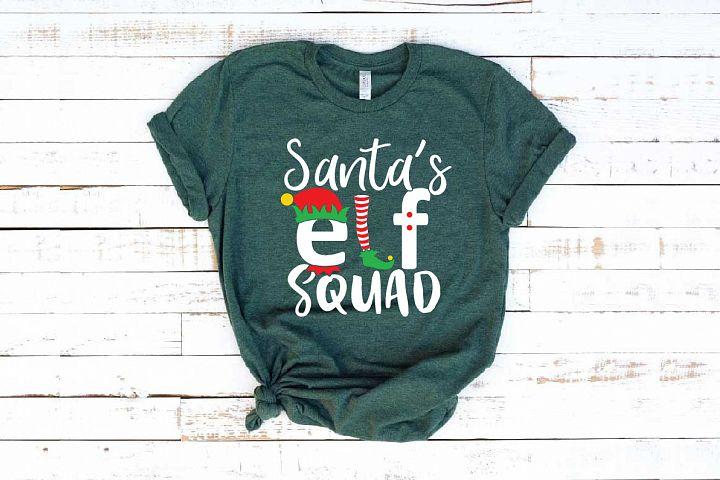 Santas Elf Squad svg Christmas svg santa hat 1097s