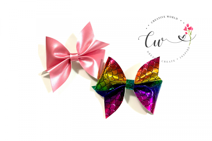 Lovely Classic Pinch Hair Bow Digital Template