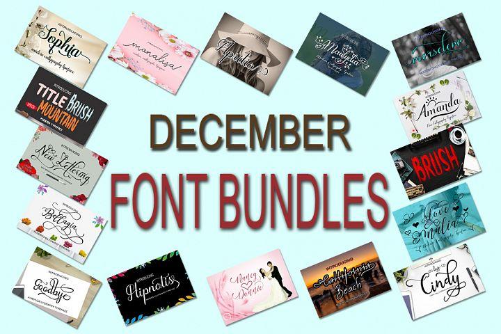 Desember Font Bundle new