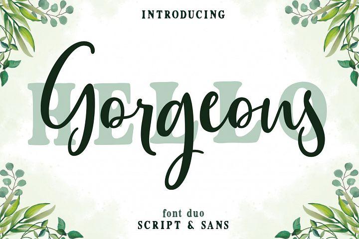 Gorgeous Script Font Duo
