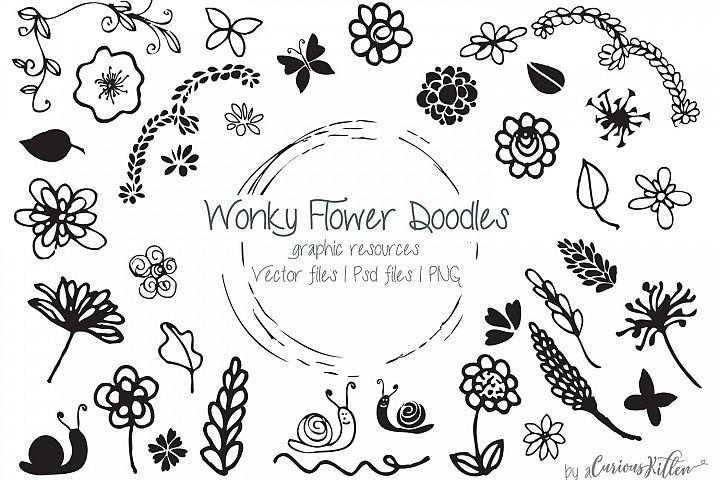Wonky Flower Doodles
