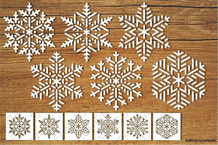 Snowflakes and Stencils SVG files for Silhouette and Cricut.