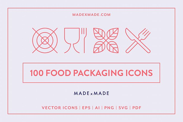 Line Icons - Food Packaging