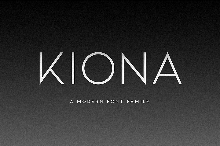 Kiona - A modern font
