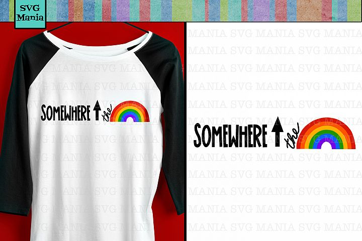 Graphic Rainbow SVG File, Rainbow Shirt SVG, Pride SVG File
