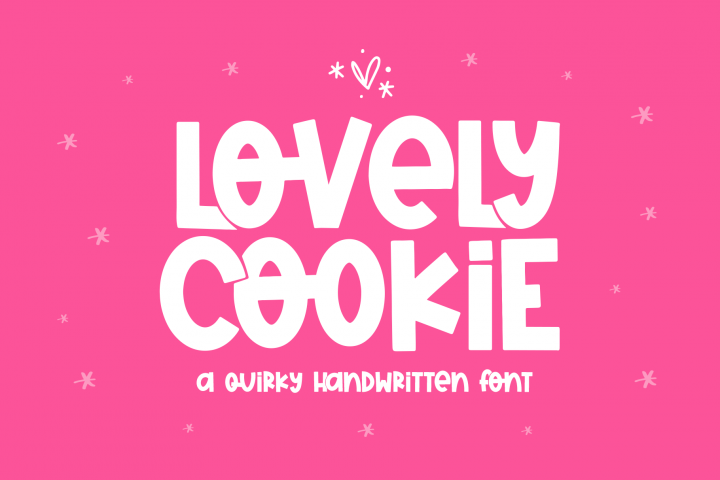 Lovely Cookie - A Fun Handwritten Font