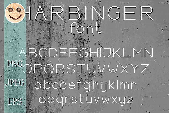 Wide sans serif vector letters
